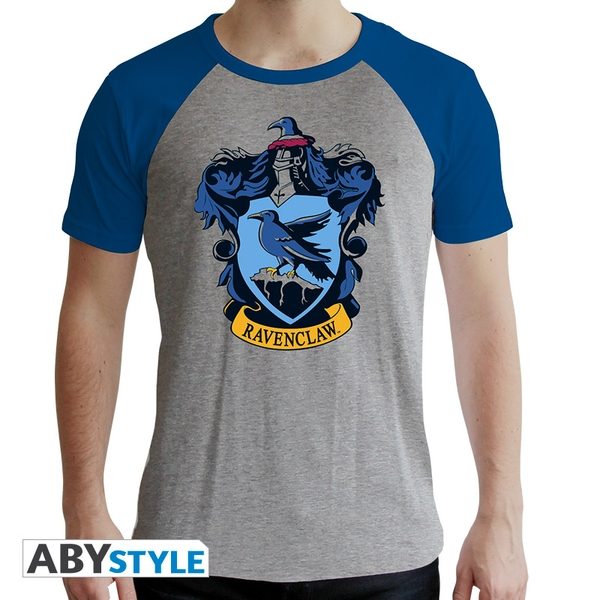 Harry Potter - Ravenclaw Men's X-Large T-Shirt - Grey and Blue