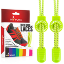 Proworks No Tie Reflective Shoe Laces -Yellow