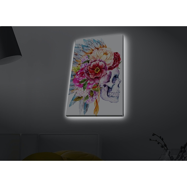 4570MDACT-063 Multicolor Decorative Led Lighted Canvas Painting