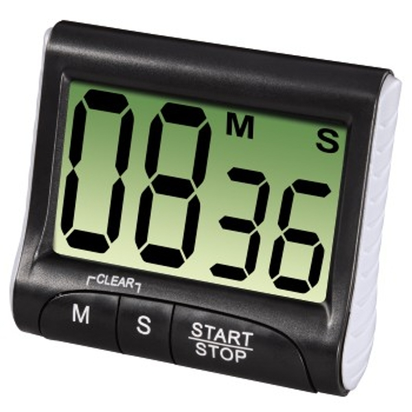 "Xavax ""Countdown"" Kitchen Timer, digital, black"