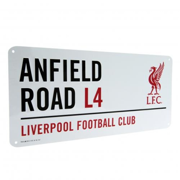 Liverpool FC White Street Sign