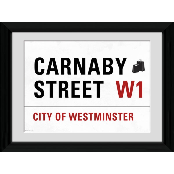 London Carnaby Street Framed 16x12 Photographic Print