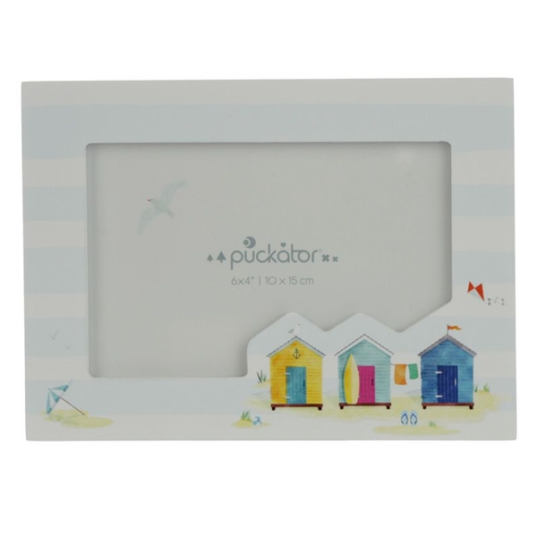 Portside Beach Hut Wooden Photo Frame