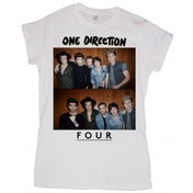 One Direction Four Ladies White T Shirt: Large