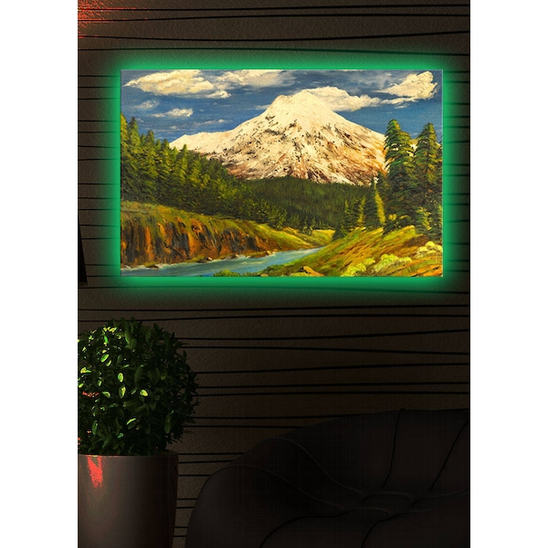 4570DACT-11 Multicolor Decorative Led Lighted Canvas Painting