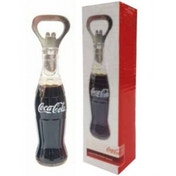 Coca-Cola Liquid Filled Bottle Opener with Magnet