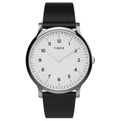 Timex TW2T66300 Essential Collection Mens Norway 40mm Leather Strap Watch