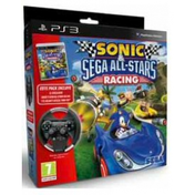 Sonic & Sega All Stars Racing Game + Racing Wheel PS3