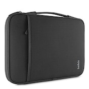 Belkin Slim Protective Sleeve with Carry Handle and Zipped Storage for Chromebooks, Netbooks and Laptops Upto 13 inch - Black