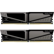 Team Group Vulcan T-Force 16GB (2x8GB) DDR4 PC4-19200C14 2400MHz Dual Channel Kit - Grey (TLGD416G24
