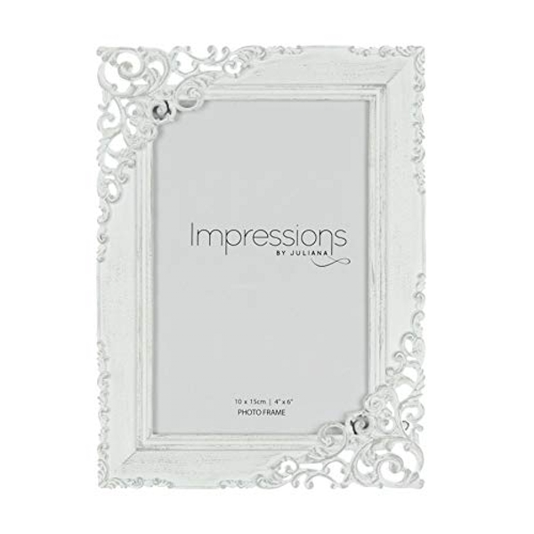 "4"" x 6"" - Impressions Cream Distressed Photo Frame"