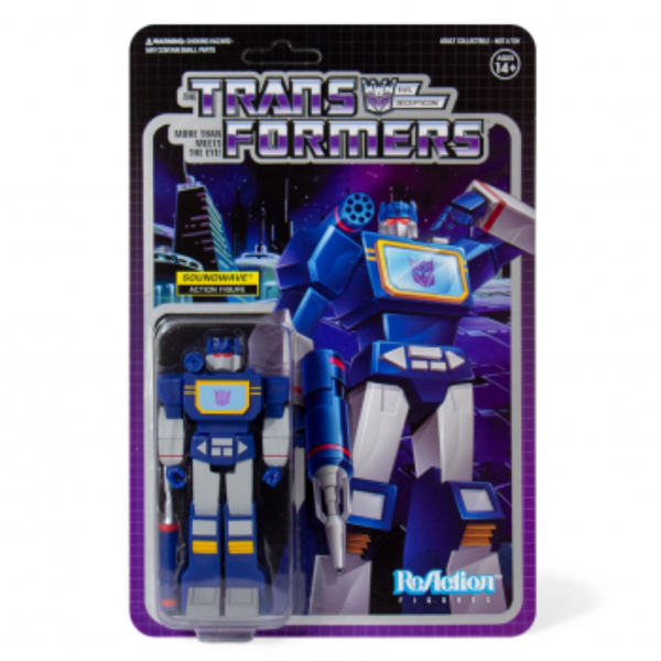 Soundwave (Transformers) Super 7 ReAction Figure