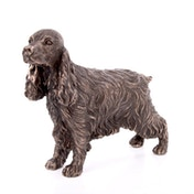 Cocker Spaniel Standing Cold Cast Bronze Sculpture
