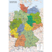 Germany Map  Maxi Poster