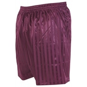 Precision Striped Continental Football Shorts 38-40 inch Maroon