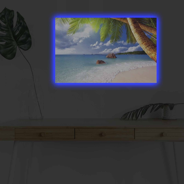 4570DHDACT-027 Multicolor Decorative Led Lighted Canvas Painting