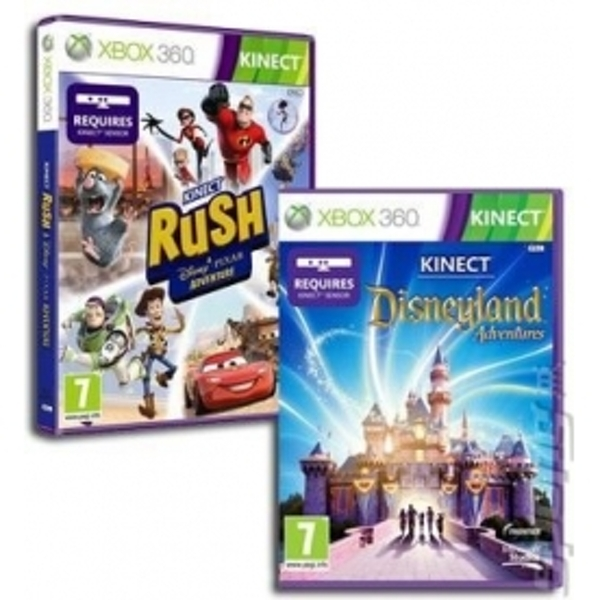 Kinect Disneyland Adventures and Kinect Rush Double Pack Xbox 360 Game