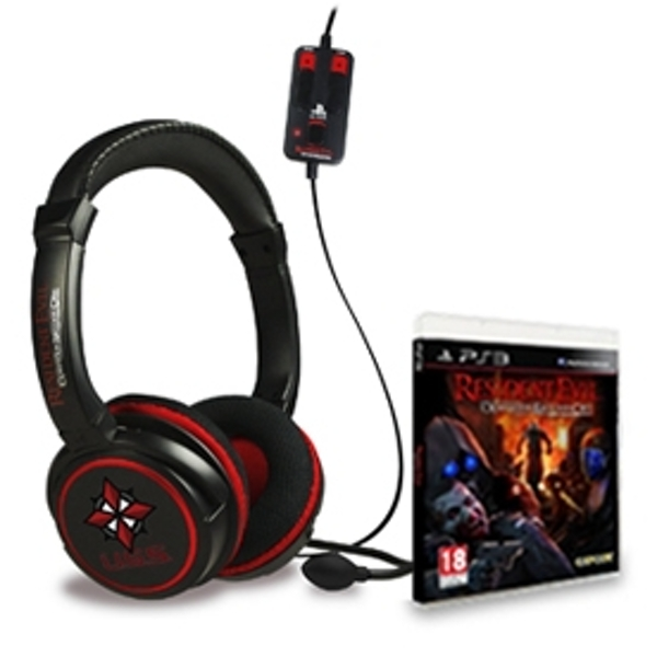 Resident Evil Operation Raccoon City Game + CP-CAP2 Stereo Gaming Headset PS3