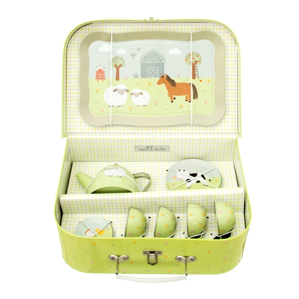 Sass & Belle Farmyard Friends Kid's Tea Set