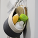 Hanging Cotton Rope Basket | M&W Grey & White - Image 4