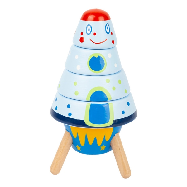 Legler - Small Foot Children's Stacking Space Rockets Play Set (Multi-colour)