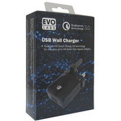 Evo Labs 3A Qualcomm Quick Charge 3.0 USB Wall Charger UK Plug