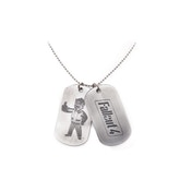Fallout - Logo & Vault Boy Thumbs Up Unisex Dog Tags - Silver