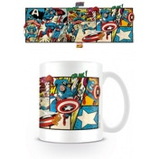 Marvel Retro Captain America Panels Mug