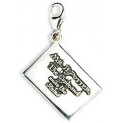 Sterling Silver Hogwarts Acceptance Letter Clip on Charm