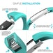 Yousave Activity Tracker Single Strap - Cyan (Small) - Image 5