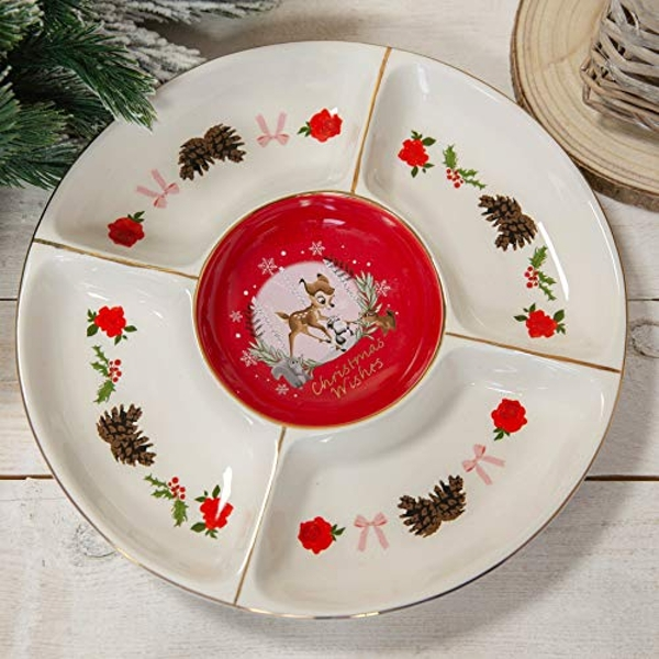 Disney Bambi Enchanted Forest Christmas Serving Plate