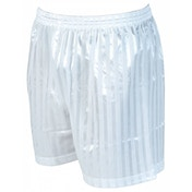 Precision Striped Continental Football Shorts 30-32 inch White