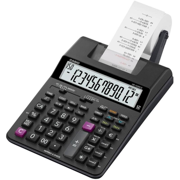 Casio HR150RCE-WA 12 Digit Display Printing Calculator