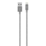 Belkin Premium Tangle-Free  Braided Lightning to USB Charge and Sync Cable with Aluminium Connectors for iPhone  iPad and iPod in Grey