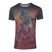 Doom - Box Art Sublimation Men's Large T-Shirt - Multi-colour