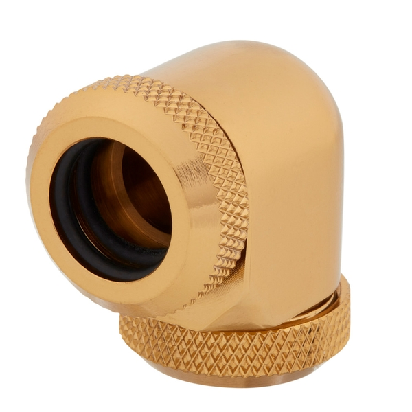 Corsair XF Hardline 90 Angled 12mm Gold Fitting - Twin Pack (CX-9052023-WW)