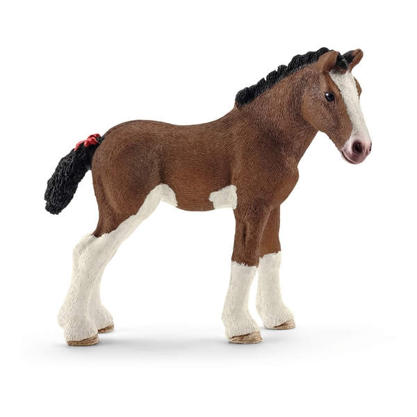 SCHLEICH Farm World Clydesdale Foal Toy Figure