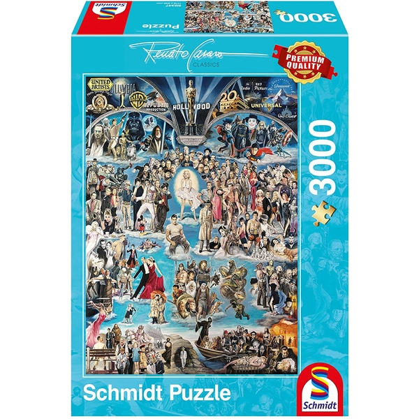 Renato Casaro - Hollywood XXL 3000 Piece Jigsaw Puzzle