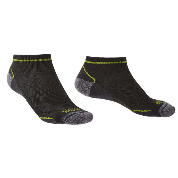 Bridgedale HIKE Ultra Light Coolmax Performance Ankle - Extra Large Graphite/Lime