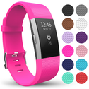 Yousave Fitbit Charge 2 Strap Single (Large) - Hot Pink