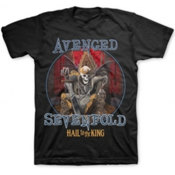 Avenged Sevenfold Deadly Rule Mens Black T-Shirt: Large