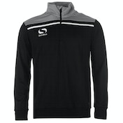 Sondico Precision Quarter Zip Sweatshirt Youth 13 (XLB) Black/Charcoal