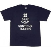Portal 2 Keep Calm and Continue Testing T-Shirt X-Large