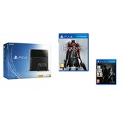 PlayStation 4 (500GB) Black Console + Bloodborne + The Last of Us