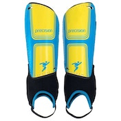 Precision Vector Shin & Ankle Pads Large Cyan Blue/Yellow