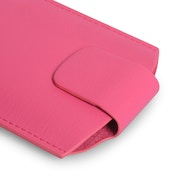 YouSave Accessories Lychee Leather-Effect Pouch (S) - Hot Pink