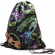 Teenage Mutant Ninja Turtles (TMNT) Retro Neon Faces Drawstring Bag