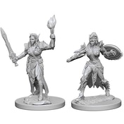Pathfinder Deep Cuts Unpainted Miniatures Elf Female Fighter