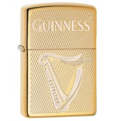 Zippo Guinness Harp High Polish Brass Windproof Lighter