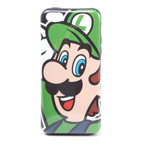 Nintendo - Luigi Face Apple Iphone 5C Phone Cover